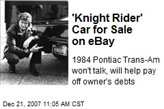 'Knight Rider' Car for Sale on eBay