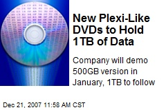 New Plexi-Like DVDs to Hold 1TB of Data