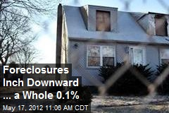 Foreclosures Inch Downward ... a Whole 0.1%