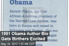 1991 Obama Author Bio Gets Birthers Excited
