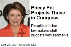 Pricey Pet Projects Thrive in Congress