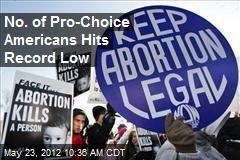 No. of Pro-Choice Americans Hits Record Low