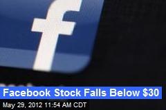 Facebook Stock Falls Below $30