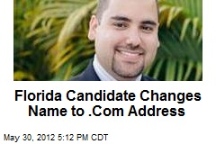 Florida Candidate Changes Name to .Com Address