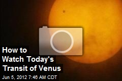 How to Watch Today's Transit of Venus