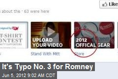 It's Typo No. 3 for Romney