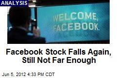 Facebook Stock Falls Again, Still Not Far Enough