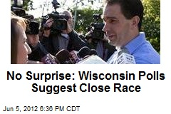 No Surprise: Wisconsin Exit Polls Suggest Close Race