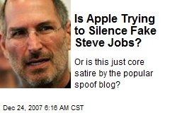 Is Apple Trying to Silence Fake Steve Jobs?