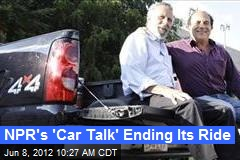 NPR's 'Car Talk' Ending Its Ride