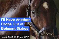 I'll Have Another Drops Out of Belmont Stakes