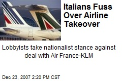 Italians Fuss Over Airline Takeover