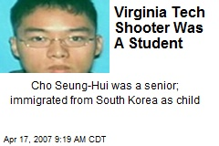 Virginia Tech Shooter Was A Student