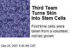 Third Team Turns Skin Into Stem Cells
