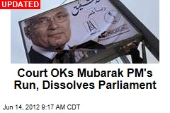 Egypt Court: Mubarak's PM Can Run