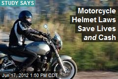 Motorcycle Helmet Laws Save Lives and Cash