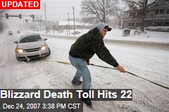 Blizzard Death Toll Hits 22