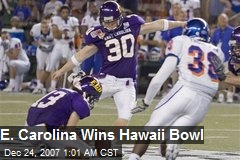 E. Carolina Wins Hawaii Bowl