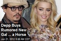 Depp Buys Rumored New Gal ... a Horse