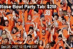 Rose Bowl Party Tab: $2M