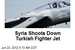 Syria Shoots Down Turkish Fighter Jet
