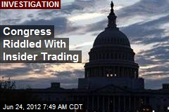 Congress Riddled With Insider Trading