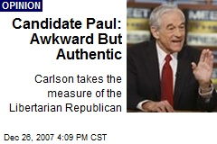 Candidate Paul: Awkward But Authentic