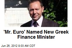 'Mr. Euro' Named New Greek Finance Minister