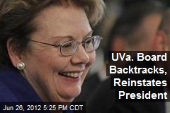 UVA Board Backtracks, Reinstates President