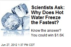 Scientists Ask: Why Does Hot Water Freeze the Fastest?