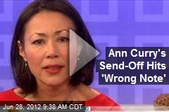 Ann Curry's Send-Off Hits 'Wrong Note'