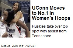 UConn Moves to No.1 in Women's Hoops