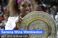 Serena Wins Wimbledon
