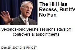The Hill Has Recess, But It's No Fun