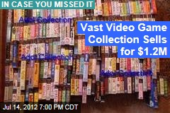 Vast Video Game Collection Sells for $1.2M