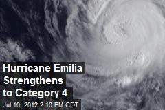 Hurricane Emilia Strengthens to Category 4