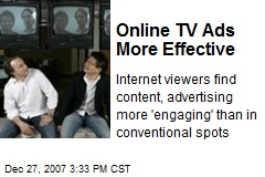 Online TV Ads More Effective