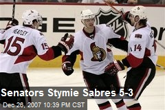 Senators Stymie Sabres 5-3