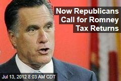 Now Republicans Call for Romney Tax Returns