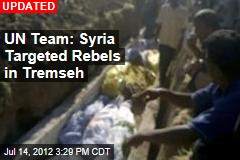 UN Team Probes Syria Massacre