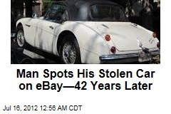 Man Spots His Stolen Car on eBay—42 Years Later