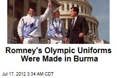 Romney's Olympic Uniforms Were Made in Burma