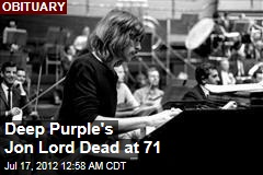 Deep Purple's Jon Lord Dead at 71