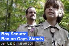 Boy Scouts: Ban on Gays Stands
