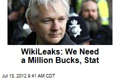 WikiLeaks: We Need a Million Bucks, Stat