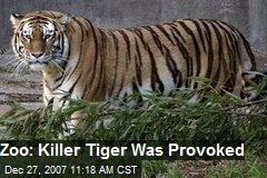 Zoo: Killer Tiger Was Provoked