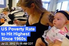 US Poverty Rate to Hit Highest Since 1960s