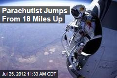Parachutist Jumps From 18 Miles Up