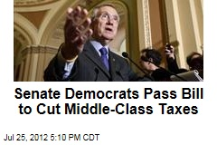 Senate Democrats Pass Bill to Cut Middle-Class Taxes