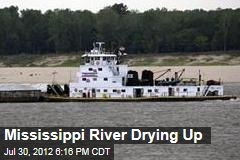 Mississippi River Drying Up